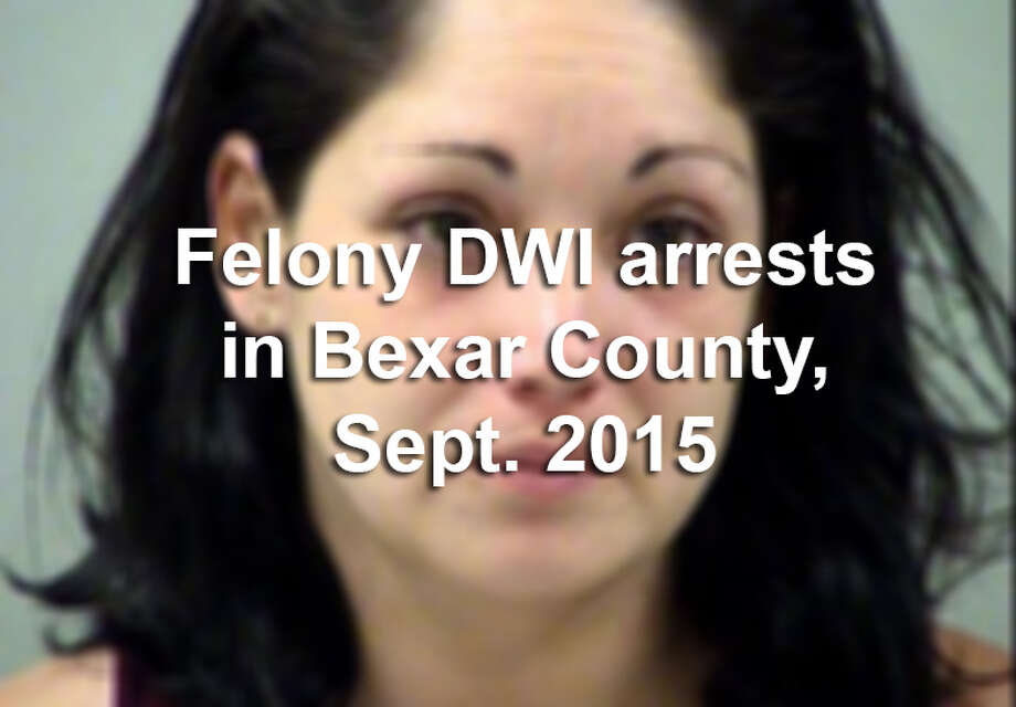 Bexar County law enforcement officers arrested more than 50 people in September on felony drunken driving charges.Scroll through the slideshow to see their booking photos. Photo: Bexar County Jail