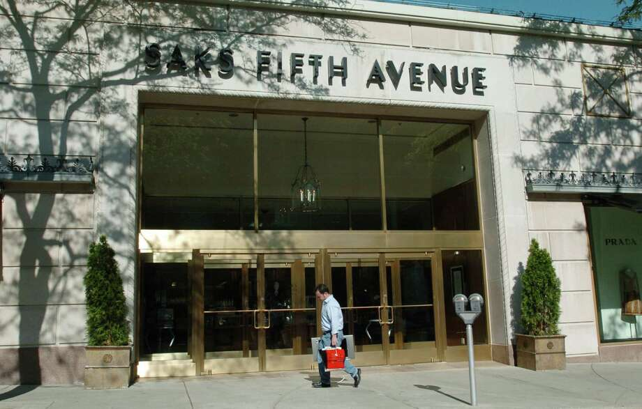 Saks Fifth Avenue has signed a lease at 200 Greenwich Avenue, adding an additional 14,000 square feet of space to its Greenwich store. Its original location, 205 Greenwich Avenue pictured here, is directly across the street. Photo: Bob Luckey / GT