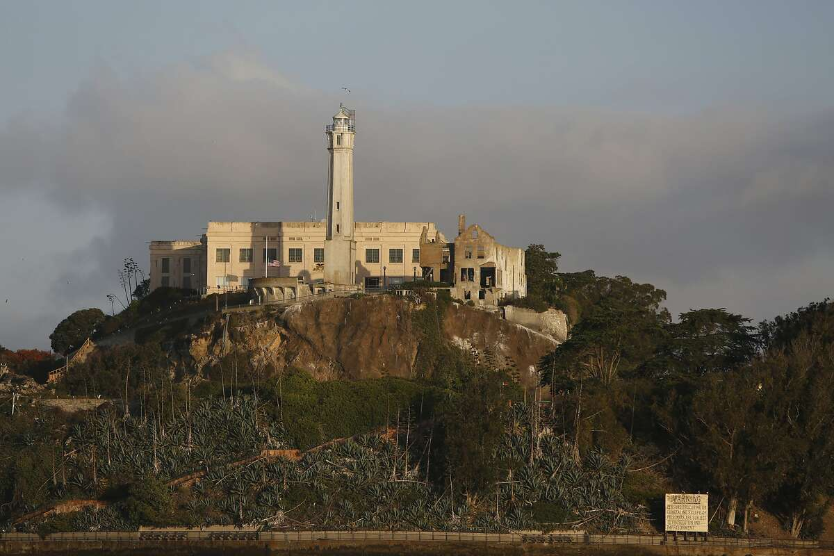 The U.S. Lighthouse Society gives a tour of the Alcatraz lighthouse needing renovation on Alcatraz in San Francisco, Calif., on Monday, October 5, 2015.