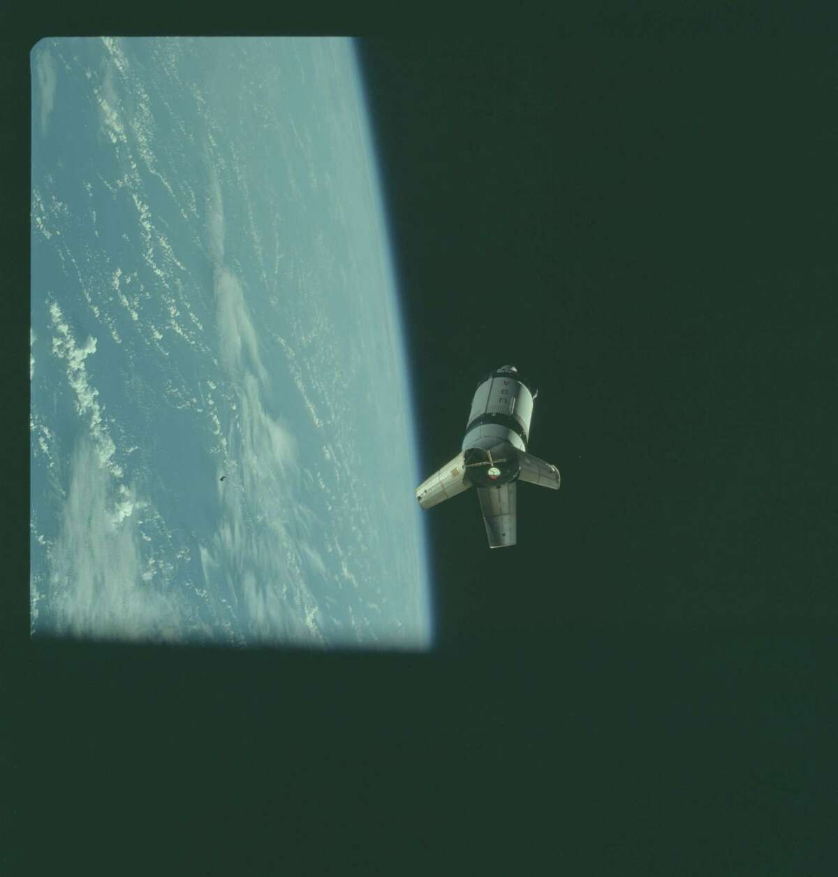 Apollo 7: (Wikipedia) First manned Earth orbital demonstration of Block II CSM, launched on Saturn IB. First live television publicly broadcast from a manned mission