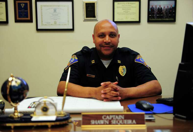 Shelton Police Department's Captain Shawn Sequeira at police headquarters in Shelton, Conn., on Wedn