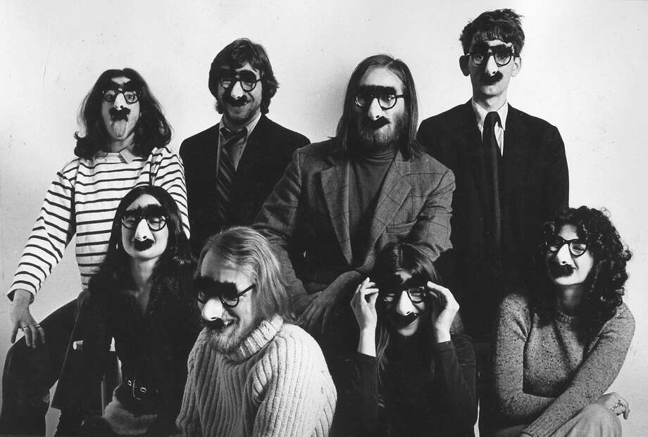 """Louise Gikow, Michael Gross, Unknown, Unknown Unknown, Unknown, Doug Kenney, Henry Beard in """"Drunk Stoned Brilliand Dead: The Story of the National Lampoon."""" (Magnolia Pictures) Photo: Magnolia Pictures, McClatchy-Tribune News Service"""