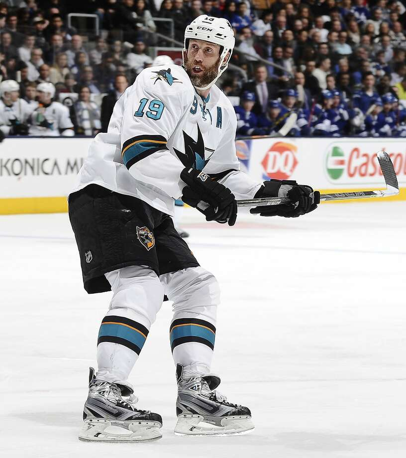 "Since coming to the Sharks in a trade from the Boston Bruins in December of 2005, the 6-foot-4, 225-pound Joe Thornton, ""a true superstar,"" has 189 goals and 616 assists. Photo: Graig Abel, NHLI Via Getty Images"