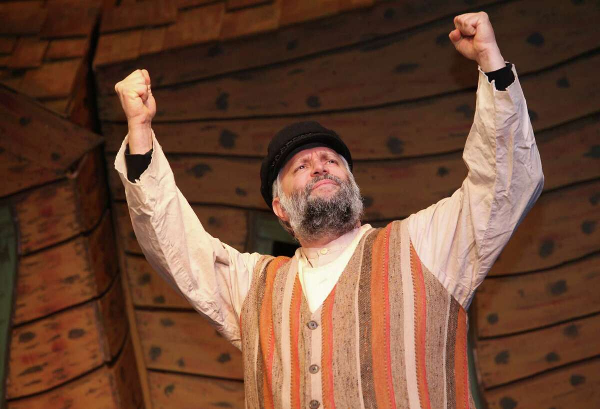 Marc Garofalo rehearses for Fiddler on the Roof at Center Stage Theatre in Shelton. Conn.