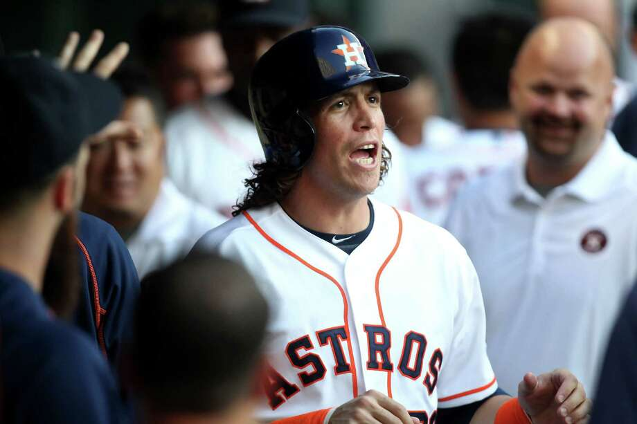Outfielder Colby Rasmus has been happy with the clubhouse atmosphere that has developed in his first season in Houston. Photo: Gary Coronado, Staff / © 2015 Houston Chronicle