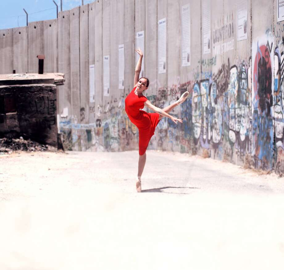 Casey Lee Thorne performs with her company in a travel-inspired piece. Photo: Hamza Shalesh