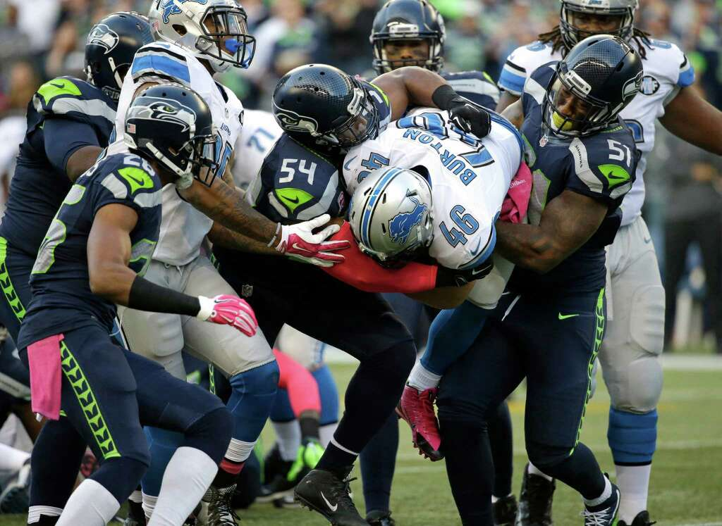 "Jerseys NFL Sale - Seattle Seahawks ""Legion of Boom"" defensive players... Photo ..."