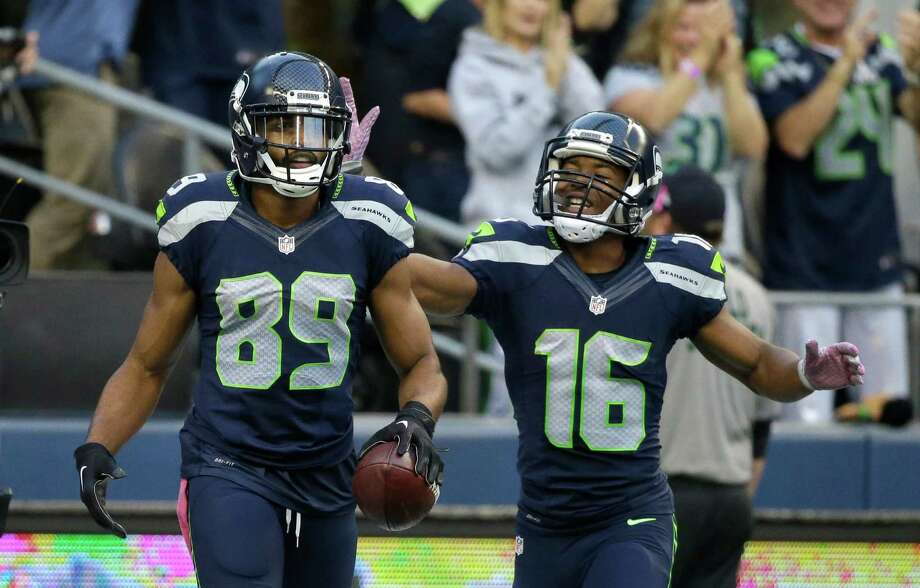 Click through the following slideshow for highlights from Doug Baldwin's press conference.  Photo: Elaine Thompson, Associated Press / AP