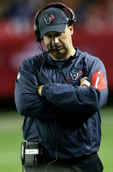 Bill O'Brien experienced the worst defeat in his pro head coaching career when the Texans fell to the Falcons 48-21 at the Georgia Dome on Sunday. Photo: Brett Coomer, Staff / © 2015  Houston Chronicle
