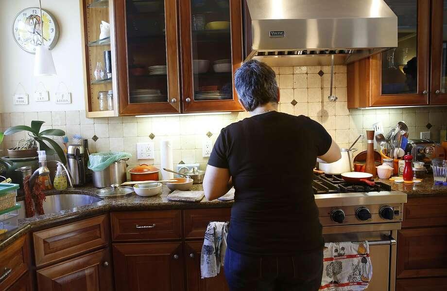 Chef Sharon Ardiana makes farrotto at home in San Francisco. Photo: Liz Hafalia, The Chronicle