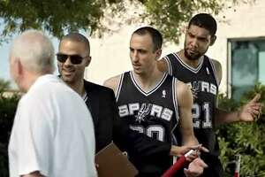 It's H-E-B commercial day at Spurs training camp - Photo