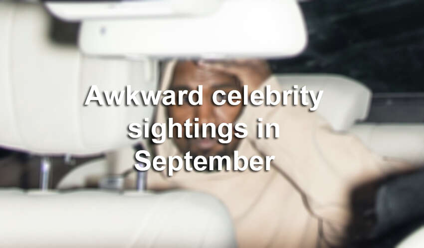 Click through the gallery to see some of the most awkward celebrity sightings in September.