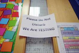 Gov. Rick Perry sent a letter to Texas Education Commissioner Michael Williams Thursday asking him to delay until the 2013-2014 school year the requirement that STAAR standardized test scores count as 15 percent of a student's grade. Educators across Southeast Texas have said the state's latest test is the most difficult ever administered.     (Paul Buckowski / Times Union)
