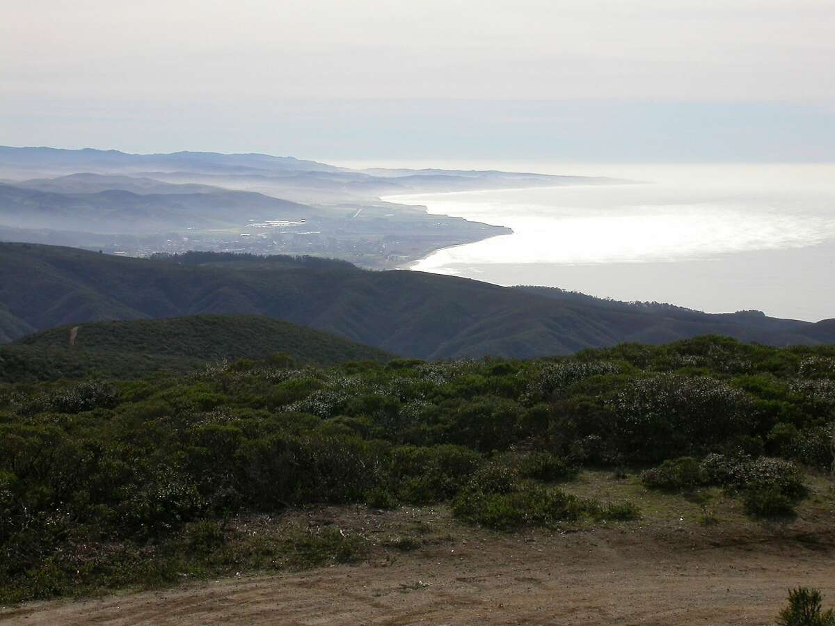 On the hike to the summit of Montara Mountain, you get this view south to Pillar Point and along the San Mateo County coast