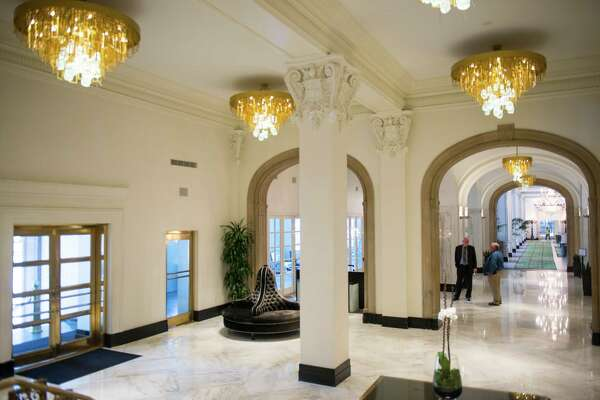The lobby at St. Anthony Hotel in downtown San Antonio on Friday, October 2, 2015. The hotel was recently renovated after being purchased by new owners in 2012. The hotel will have a grand reopening Nov. 19.