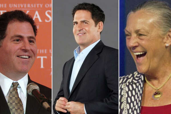Three of Texas' richest: Michael Dell, Mark Cuban and Alice Walton.