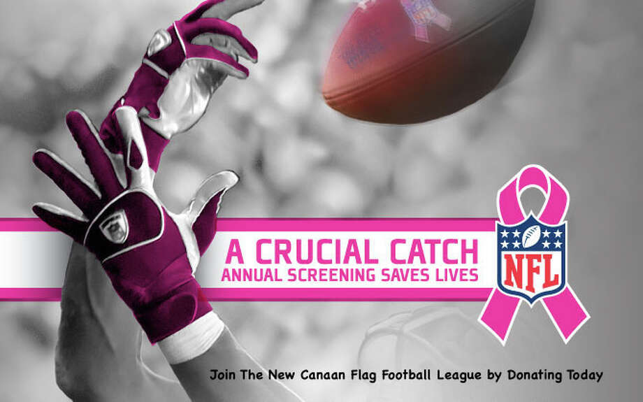 New Canaan flag to supports Breast Cancer awareness month. Photo: Contributed / Contributed / New Canaan News