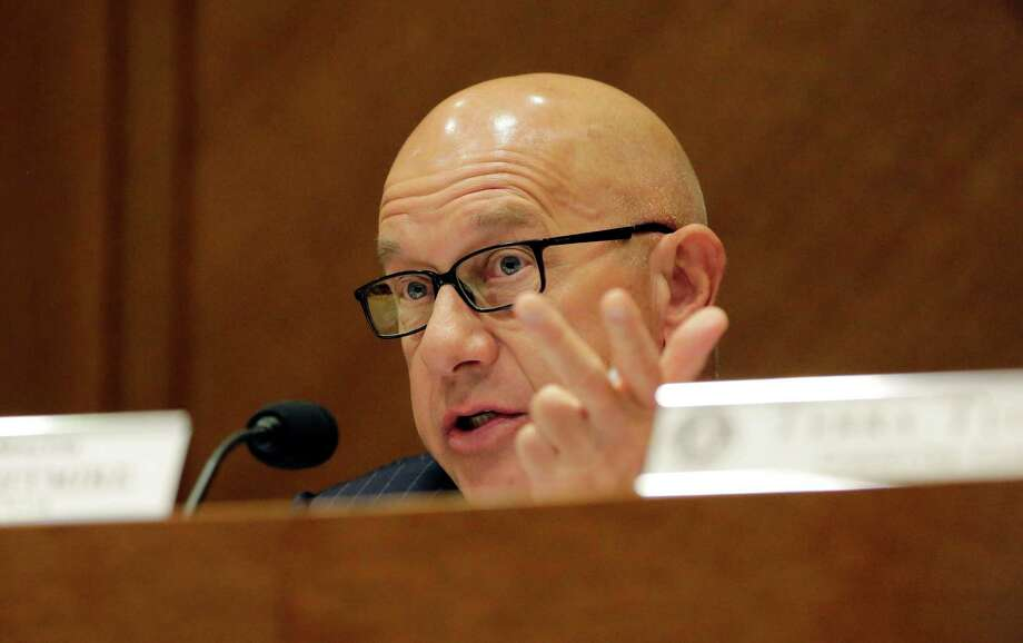 Sen. John Whitmire asks a question during a hearing on jail standards in Texas in the wake of Sandra Bland's death, Tuesday, Sept. 22, 2015, in Austin, Texas. Bland hanged herself with a garbage bag in a Waller County jail in July,  three days after being stopped for a routine traffic violation. (AP Photo/Eric Gay) Photo: Eric Gay, STF / AP