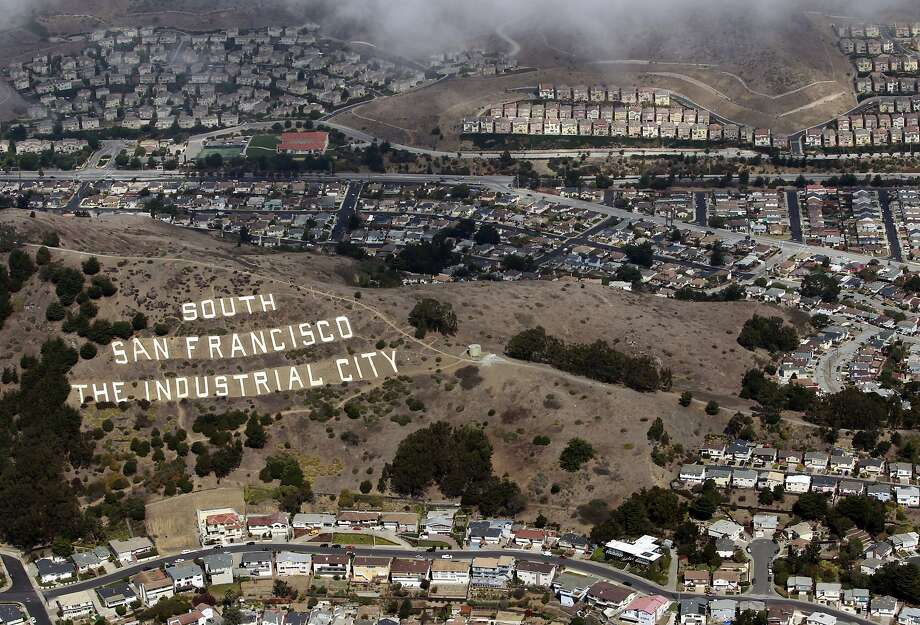 The iconic sign in South San Francisco is shown in 2012. Photo: Paul Chinn, The Chronicle