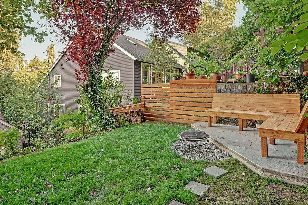 The backyard of 2423 Everett Ave. E. You can see the full listing here.