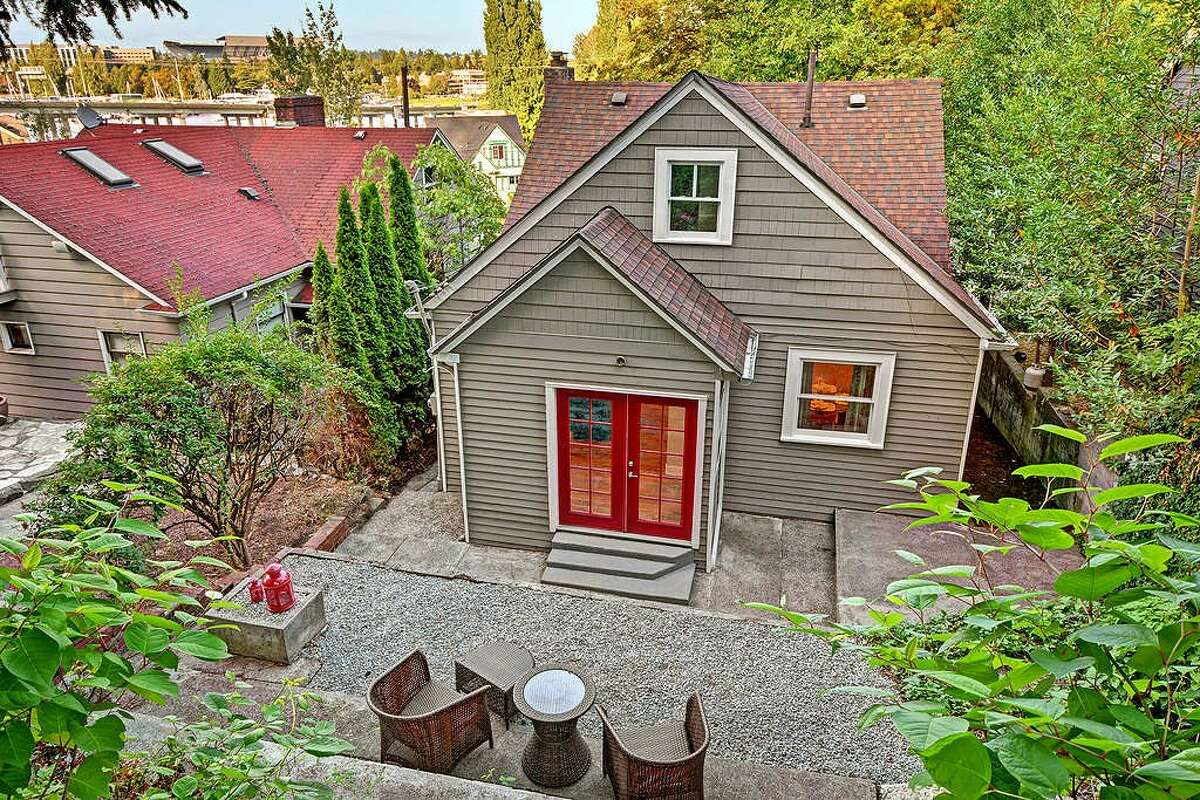 A back exterior view of 2423 Everett Ave. E. You can see the full listing here.