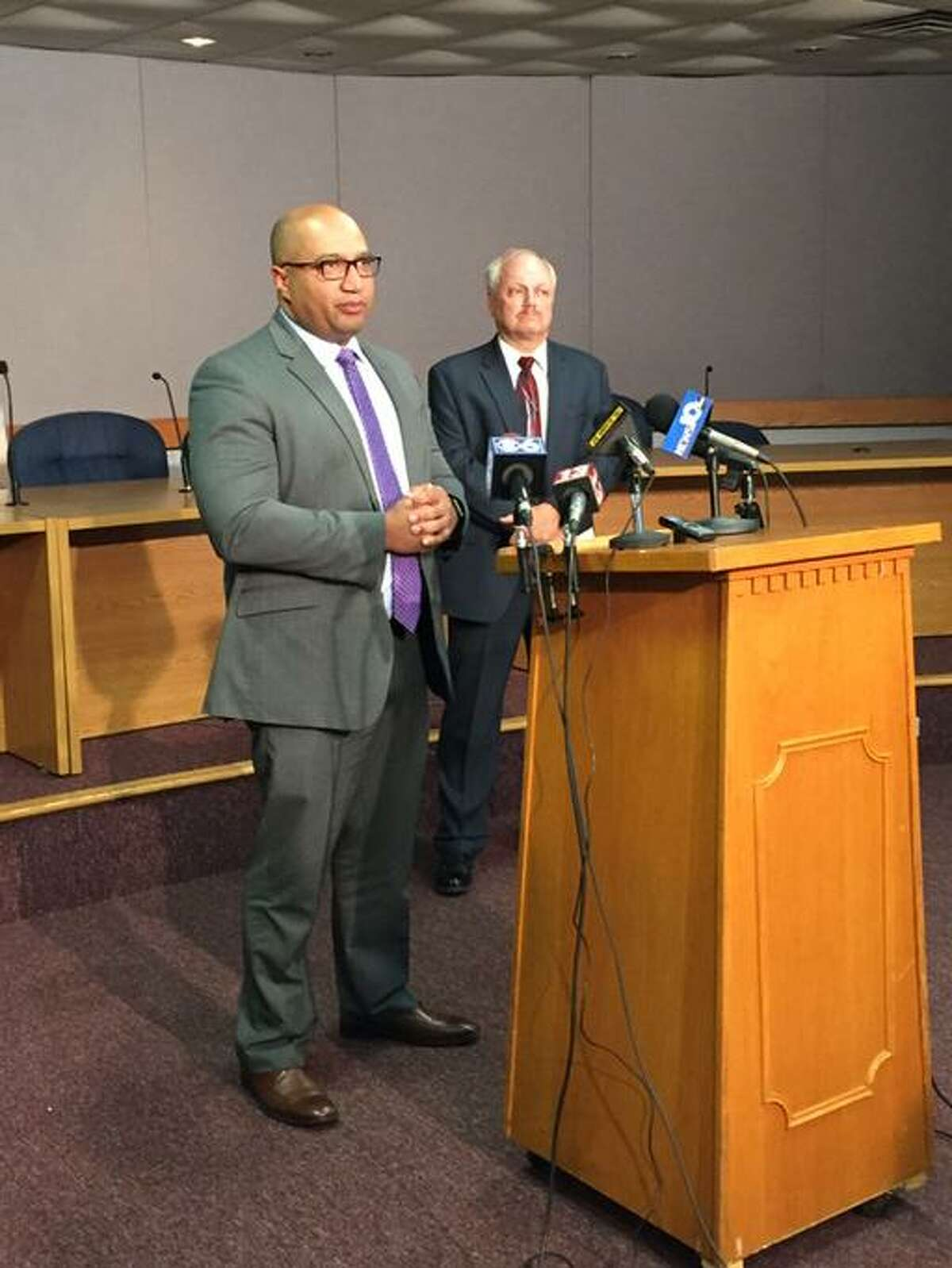 Albany County District Attorney David Soares said investigators have no new leads or breaks in the Guilderland quadruple homicide on Oct. 8, 2014. Officiials appealed for public help. (Paul Grondahl/Times Union)