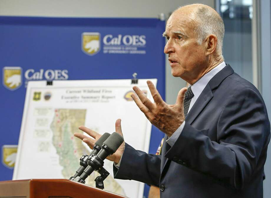 "FILE - In this Sept. 14, 2015, file photo, Calif. Gov. Jerry Brown discuss the state's wildfire situation at the Governor's Office of Emergency Services news conference in Rancho Cordova, Calif. Gov. Brown signed legislation, Monday, Oct. 5, 2015, allowing terminally ill people in the nation's most populous state to take their lives, saying the emotionally charged bill forced him to consider ""what I would want in the face of my own death."" Brown, a lifelong Catholic and former Jesuit seminarian, said he acted after discussing the issue with many people, including a Catholic bishop and two of his doctors. (AP Photo/Rich Pedroncelli, file) Photo: Rich Pedroncelli, Associated Press"