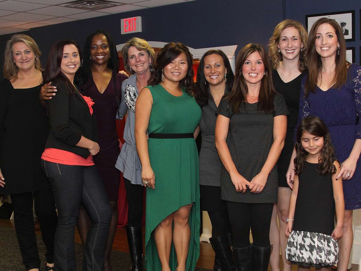 Employee-models and friends at last year's 18th Hole fashion show to benefit the Bridgeport Hospital Auxiliary.