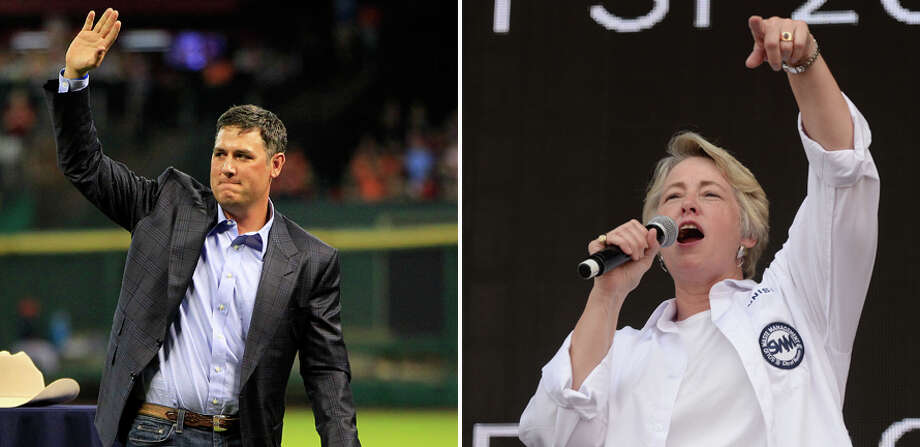 On Wednesday morning former Houston Astros player Lance Berkman (left) took to local AM radio to talk about the HERO ordinance failing at the ballot box yesterday in the city of Houston. The ordinance was championed by Houston mayor Annise Parker (right).See more scenes from election night 2015 in Houston ...