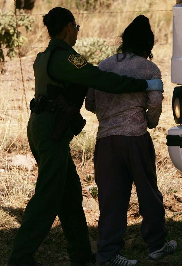 Recruiting female border agentsJust 5 percent of border agents are women and this past year the U.S. Border Patrol has been beefing up recruitment efforts for more females. Keep clicking to learn more about the predominantly male history of the U.S. Border Patrol. Photo: Spencer Platt, Getty Images