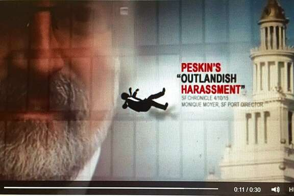 A political action committee with major funding from tech angel Ron Conway has launched a 30-second Internet ad blasting San Francisco Board of Supervisors candidate Aaron Peskin. Image courtesy the Committee for a Progressive and Affordable San Francisco.