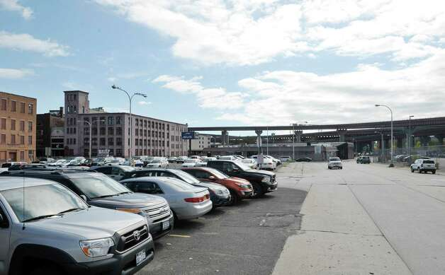 A view of the Greyhound Bus station, background, and the parking lots nearby, seen here on Tuesday, Oct. 6, 2015, in Albany, N.Y.  (Paul Buckowski / Times Union) Photo: PAUL BUCKOWSKI / 10033641A