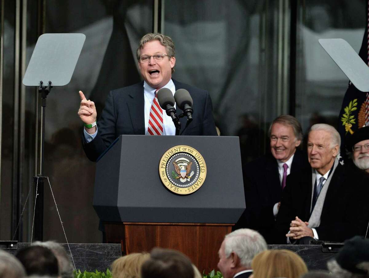 BOSTON, MA - MARCH 30: Connecticut Senator Edward M. Kennedy Jr. speaks at the Dedication Ceremony at Edward M. Kennedy Institute for the United States Senate on March 30, 2015 in Boston, Massachusetts. (Photo by Paul Marotta/Getty Images)