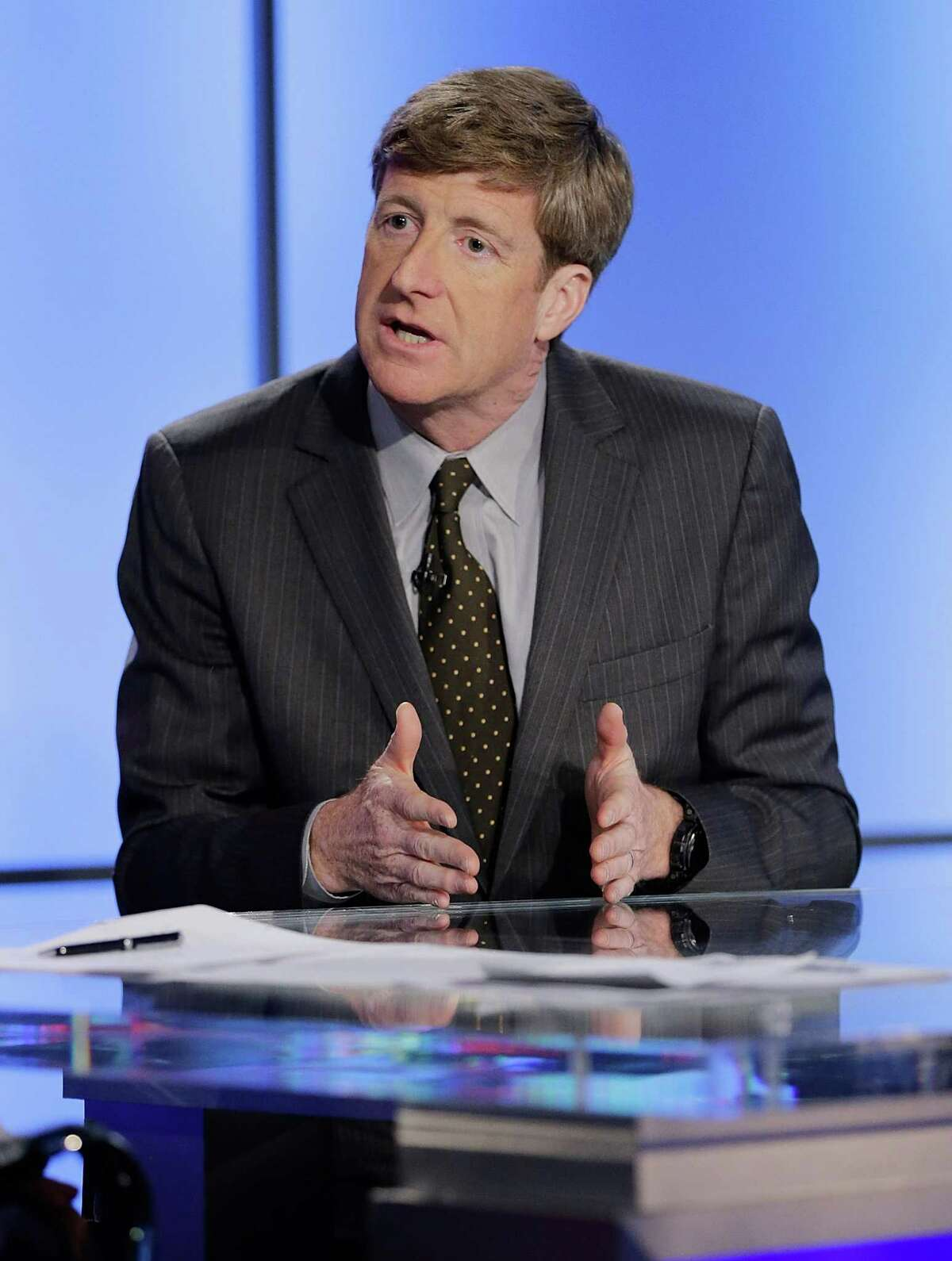 NEW YORK, NY - OCTOBER 06: Former Congressman of Rhode Island Patrick J. Kennedy visits FOX News'