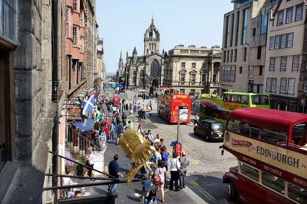 The Royal Mile offers a leisurely and fascination-filled stroll through history, souvenir shops, and tourists.