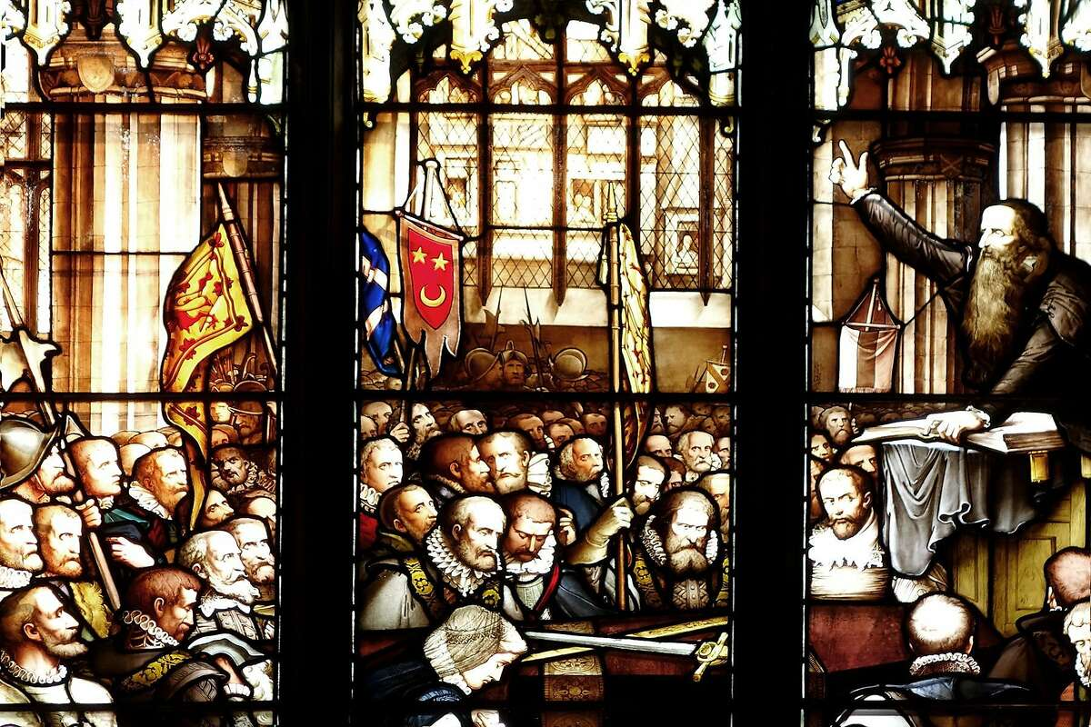 Despite preaching against anything that separated you from God, including stained glass, the great reformer John Knox is commemorated in this stained-glass window at St. Giles Cathedral.