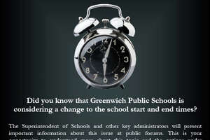Greenwich schools to hold start time forums - Photo