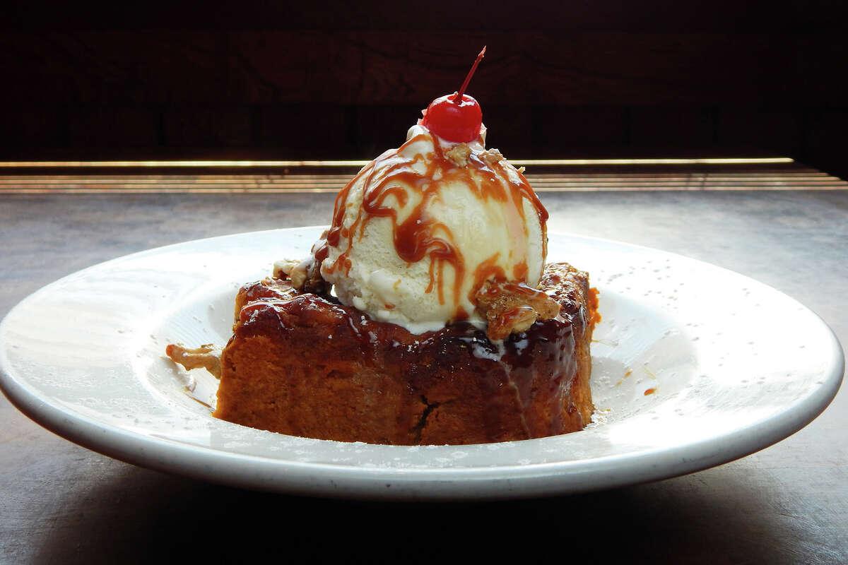 Laurenzo's: Pumpkin Bread Pudding a la mode is $8.99. 4412 Washington, 713-880-5111
