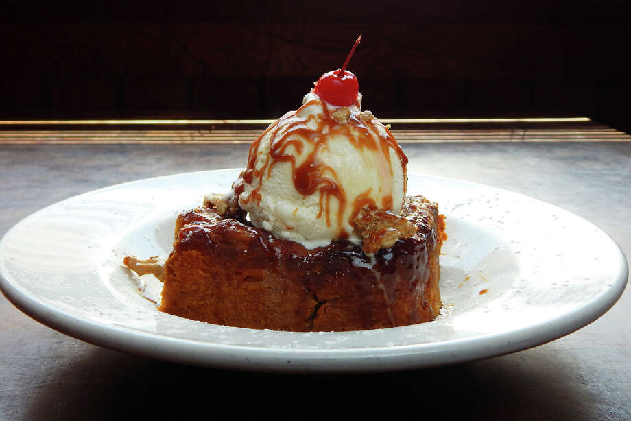 Laurenzo's: Pumpkin Bread Pudding a la mode is $8.99.