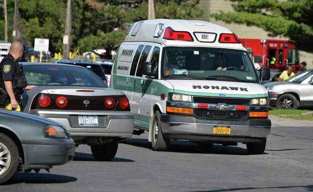 Anambulance carries a 16-year-old male stabbing victim from Manning and North Manning Tuesday Oct. 6, 2015 in Albany, NY. (John Carl D'Annibale / Times Union) Photo: John Carl D'Annibale
