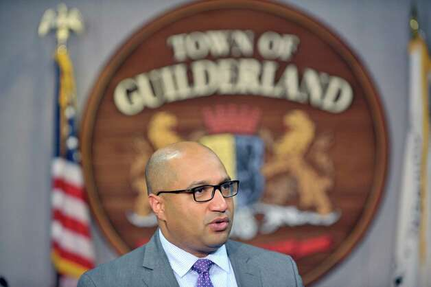 David Soares, Albany County D.A. addresses members of the media during a press conference at the Guilderland Town Board room on Tuesday, Oct. 6, 2015, in Guilderland, N.Y.  Authorities held the press conference to talk about the ongoing investigation into the Guilderland homicides case that took place one year ago on October 8th.  Authorities wanted to remind the public that the case is ongoing and that officials are still seeking assistance from anyone who may have seen anything one year ago or has information about the case.     (Paul Buckowski / Times Union) Photo: PAUL BUCKOWSKI / 10033631A