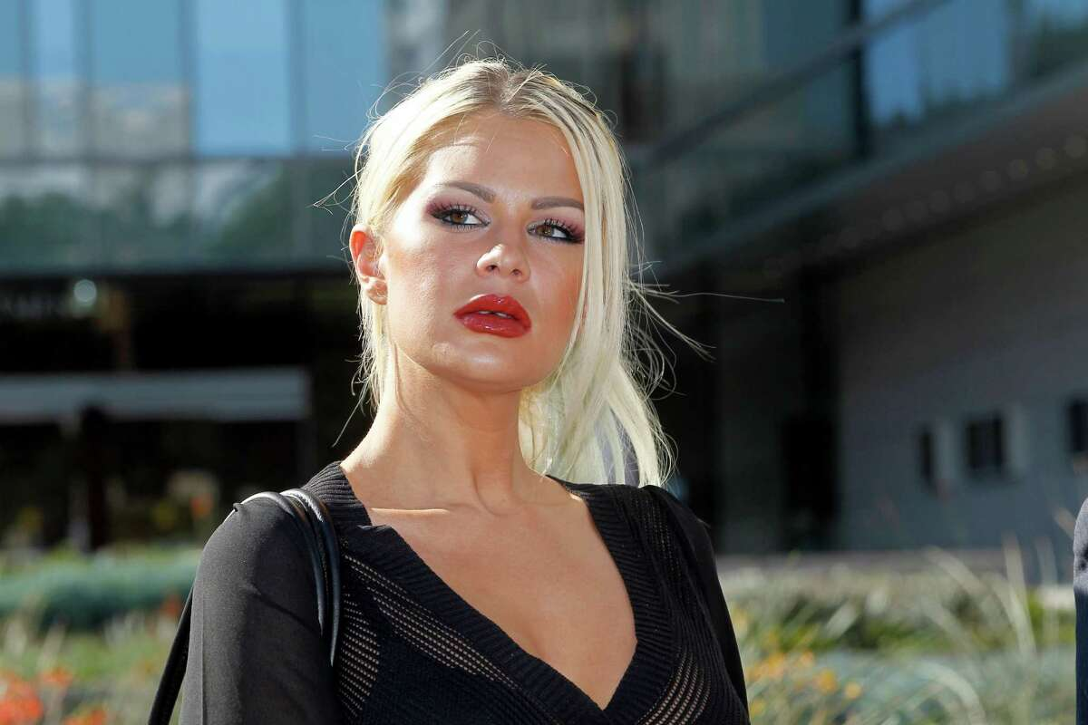 Chloe Goins, a model who claims entertainer Bill Cosby drugged and sexually abused her at the Playboy Mansion in 2008.