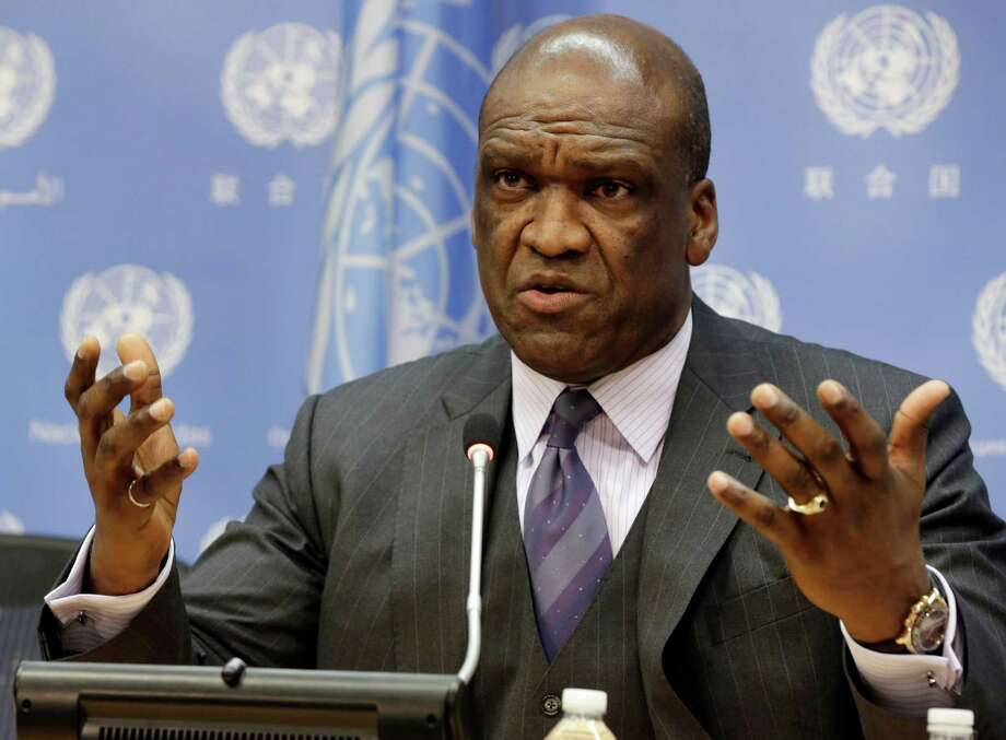 John Ashe is a former ambassador from Antigua and Barbuda. Photo: Richard Drew / Associated Press / AP