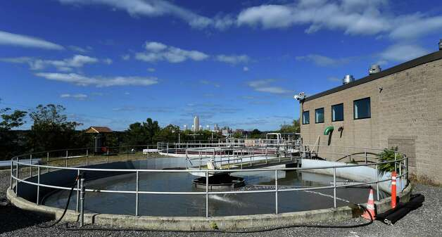 Primary clarifying tank at the East Greenbush Water Treatment Plant Tuesday afternoon Oct. 6, 2015 in East Greenbush, N.Y.      (Skip Dickstein/Times Union) Photo: SKIP DICKSTEIN / 10033638A