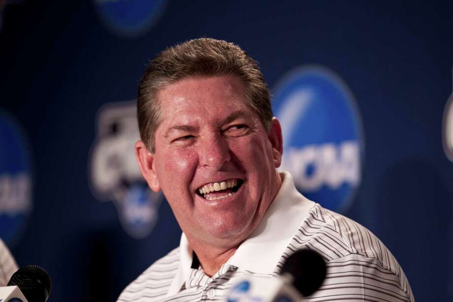 South Carolina coach Ray Tanner smiles during a news conference Saturday, June 23, 2012, ahead of the NCAA College World Series baseball finals at TD Ameritrade Pard in Omaha, Neb.  South Carolina and Arizona will play starting Sunday in the best-of-three games championship series. (AP Photo/Nati Harnik) Photo: Nati Harnik, STF