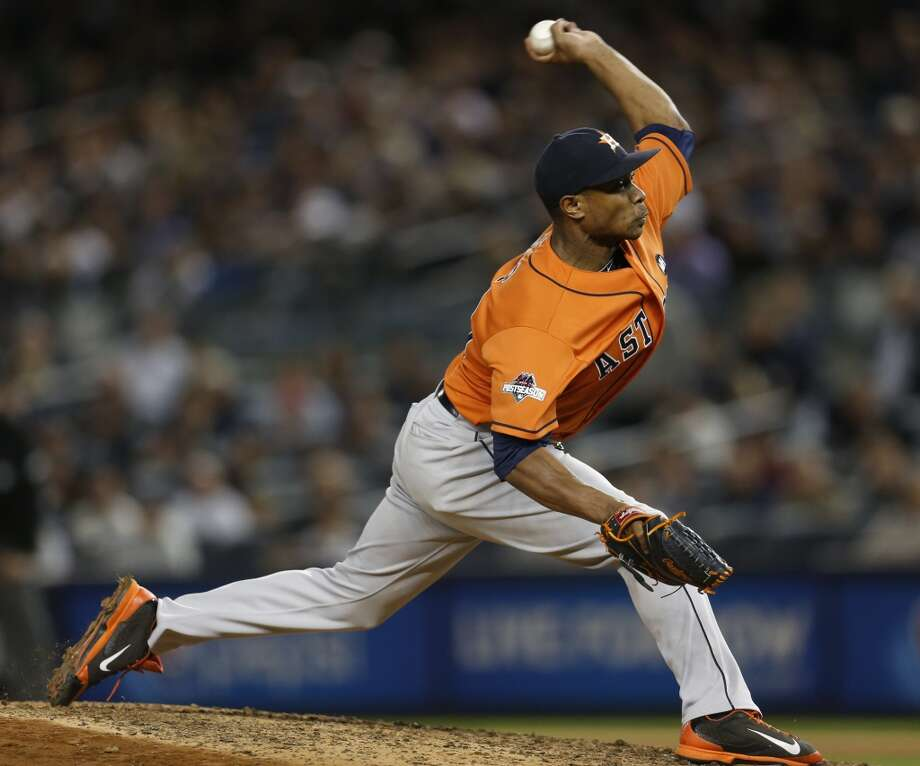 Tony Sipp, pitching in the wild card game against the Yankees, likes Houston but in free agency nothing is guaranteed. Photo: Karen Warren, Houston Chronicle
