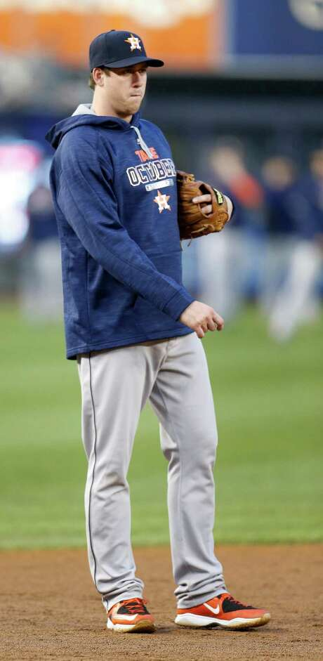 Third baseman Matt Duffy went from the minors in mid-September to making a playoff roster for a game at Yankee Stadium less than a month later. Photo: Karen Warren, Staff / © 2015 Houston Chronicle