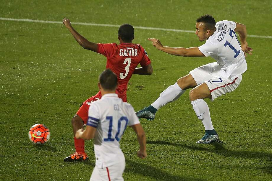 Jerome Kiesewetter (right) of the United States had a goal and the assist in the United States' win over Panama. Photo: Doug Pensinger, Getty Images