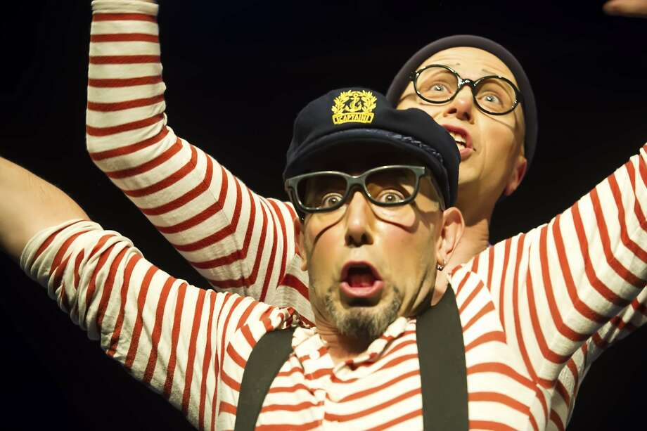 """Jaron Hollander (left) and Slater Penney in """"The Submarine Show."""" Photo: Shoot That Klown Photography"""
