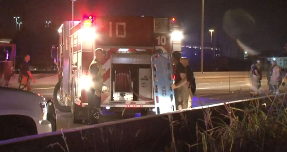 One person was killed and multiple others were injured in a wreck and shooting Wednesday morning near the West Sam Houston Parkway South and Town Park Drive.